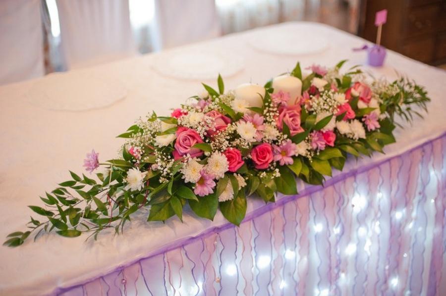 Цветок на стол молодоженов своими руками